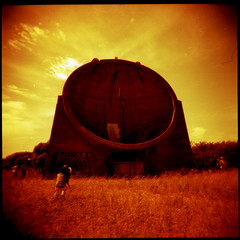 Sound Mirror (AndyWilson) Tags: 120 film mediumformat kent holga lomo dungeness adc lsi lomographic redscale diyc41 autaut