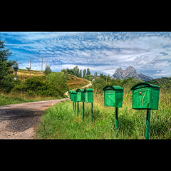 Pedraforca post office (christian&alicia) Tags: field landscape nikon post sigma catalonia catalunya 18200 hdr montain pedraforca buzn paisatge correu catalogne busties bergued cam d90 saldes prepirineu christianalicia