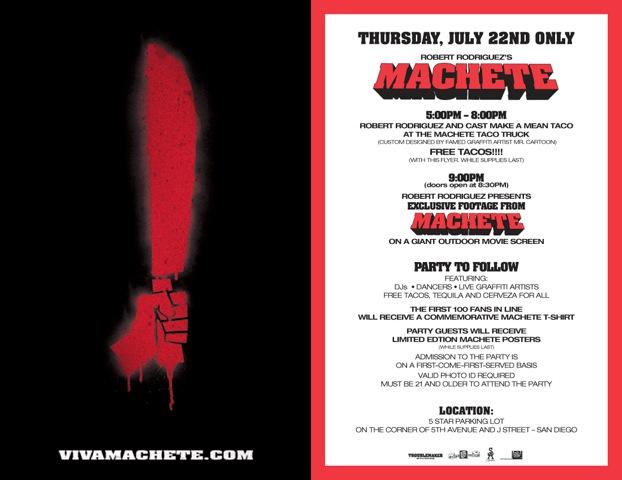 Comicon Taco Party, Robert Rodriguez, Machete,RealTVfilms