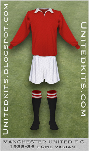 Manchester United 1935-1936 Home kit (Variant)