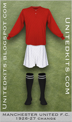 Manchester United 1926-1927 Change kit