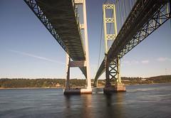 Amtrak (RickWarrenPhotos) Tags: bridge sound tacoma narrows tacomanarrowsbridge amtrakcoaststarlight