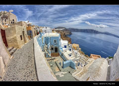 225/365 - HDR - Santorini III.@.1200x800 (Pawel Tomaszewicz) Tags: new family blue light shadow sea summer sky cloud holiday fish streets eye water colors clouds canon lens island greek eos volcano islands high view creative kreta free hobby fisheye atlantis santorini greece caldera definition hq fotografia oi range hdr levels oia cyclades woda thira fira expat pawel widok wakacje widoki  architektura morze chmury niebo lato chmura grecja oja odpoczynek kyklades wyspa  kaldera 400d wyspy 1200x800 fotografowie polscy cyklady atlantyda bkitne santoryn tomaszewicz