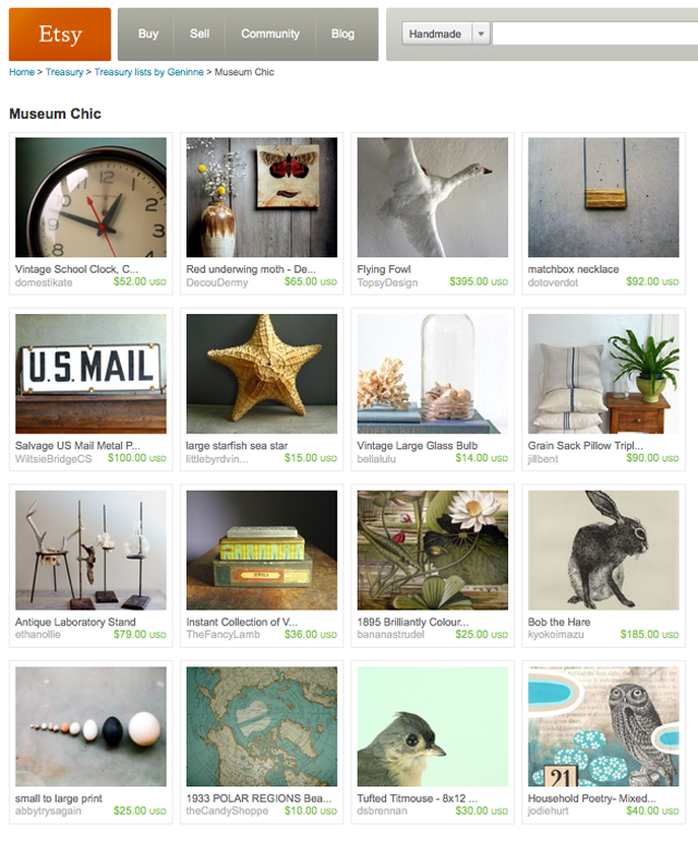 My First Etsy Treasury