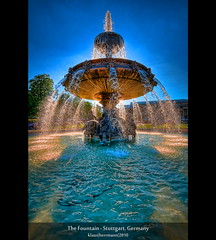 The Fountain - Stuttgart, Germany (HDR) [Explored] (farbspiel) Tags: blue red colour water fountain colors sunshine yellow backlight photoshop germany geotagged photography nikon colorful wasser glow colours shine stuttgart brunnen 19thcentury cyan wideangle bluesky fluid handheld colourful majestic dri blauerhimmel deu schlossplatz hdr highdynamicrange farben gegenlicht nineteenthcentury sonnenschein superwideangle niceweather 10mm postprocessing badenwrttemberg movingwater dynamicrangeincrease ultrawideangle d90 schneswetter photomatix tonemapped tonemapping farbenpracht flssig detailenhancer stuttgartmitte topazadjust topazdenoise klausherrmann topazsoftware sigma1020mmf35exdchsm topazphotoshopbundle geo:lat=4877826272 geo:lon=917982280