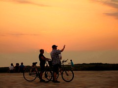 ... bis zum Horizont und dann nicht weiter  ... (blacky_hs) Tags: sunset summer beach bike st strand sommer peter national nordsee geographic otw ording mywinners superaplus flickraward
