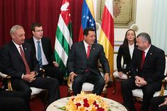 Bagapsch und Kokoity im Gespräch mit Chavez in Caracas