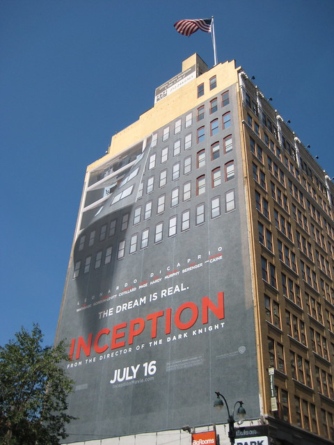 Christopher Nolan 's Inception Billboard Building Wall Peeling Movie Film Poster 8426 by Brechtbug