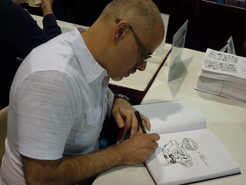 Stephen DeStefano sketches - Fantagraphics at Comic-Con 2010