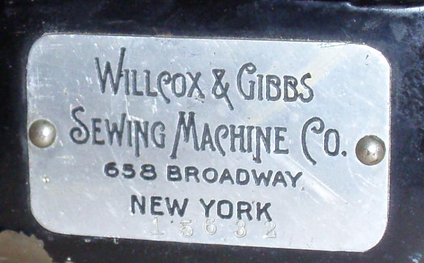 Dating Willcox & Gibbs symaskiner