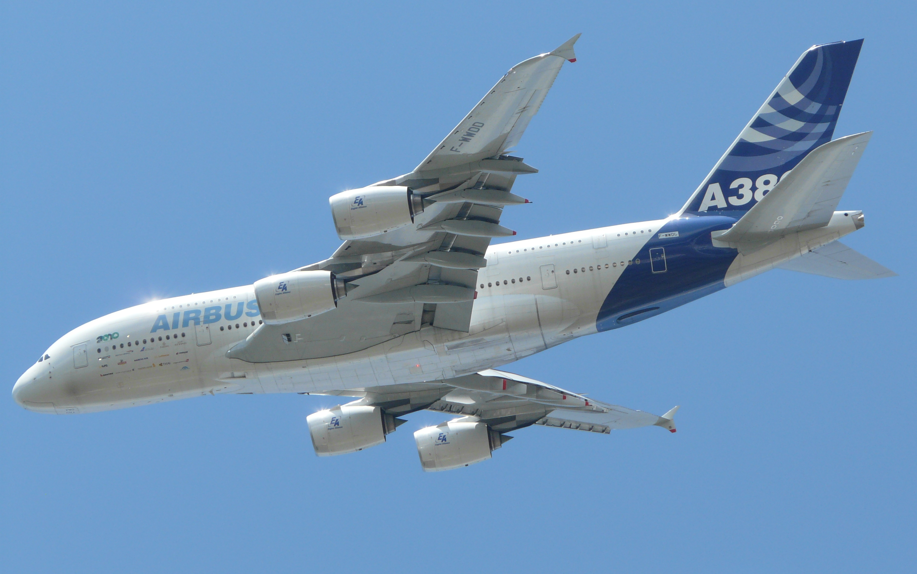 A380 at Farnborough Airshow