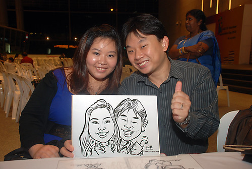 Caricature live sketching for KidsRead Volunteer Appreciation Day 2010 - 6