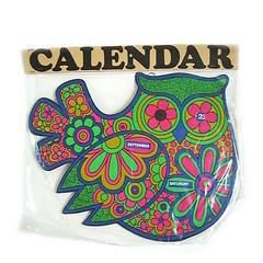 Vintage owl perpetual calendar (Wooden donkey) Tags: vintage