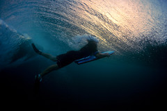 Duck Dive (coastalcreature) Tags: ocean sunset hawaii underwater wave murph bodyboarder duckdive