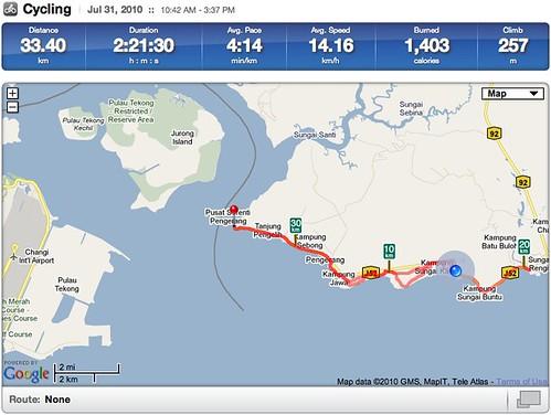 Pengerang Cycling Trip (40km) | RunKeeper
