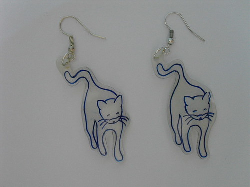 DIY-Miu Miu cat print earrings SS10 (30)