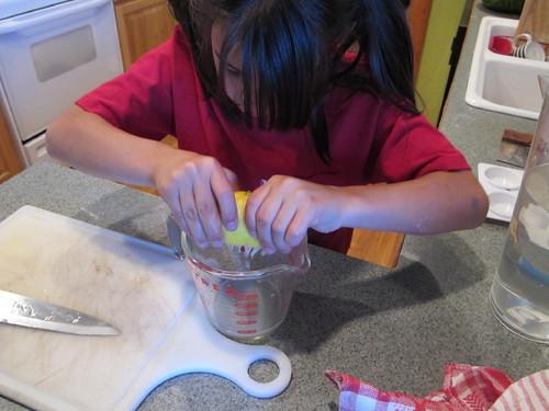 Making her lemonade