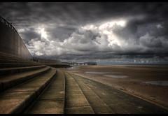 A break in the cloud.....'Front page Explore'! (jetbluestone) Tags: light sea beach clouds sand blackpool hdr centralpier hdraward