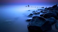 Light & Dark (jrobfoto.com) Tags: wood longexposure lake beach rock fog night pier illinois big sand michigan lee stopper grosspoint evanstone perfectshot omot jonathanrobsonphotographycom bigstopper regionwide