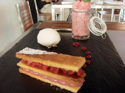 nathalie gourmet studio - raspberry mille