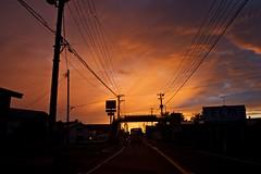red rain (alpha9d) Tags: sunset red rain clouds    goshogawara