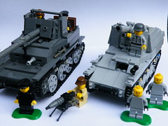 LEGO WW2 Axis (The Brickologist) Tags: lego ww2 tanks wespe marder3 brickmania legoww2