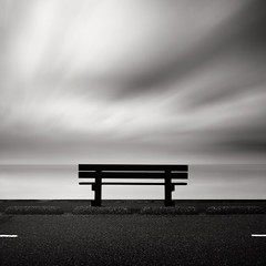 Future (Joel Tjintjelaar) Tags: sea bench zen bwphotography bluefilter daytimelongexposure nd110 blackandwhitelongexposure silverefexpro tjintjelaar bwnd11010stopsfilter photoshopcs5 theusualsubjects