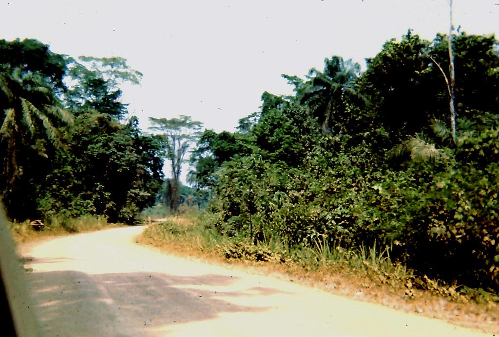 Pendembu-Kailahun road, dry season, 1967 (1 of 2)