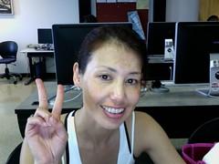 Peace and love Kristie Miyamoto (KristieMiyamoto) Tags: brazil love japan photobooth peace miyamoto kristie cscc portatrait