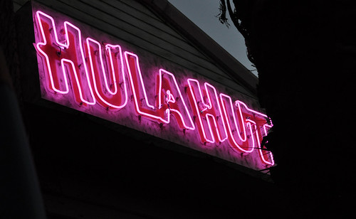 Neon Sign @ Hula Hut ~ Austin, TX