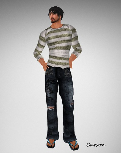. WoE . Kole Dragon Jeans (Blue) Braylon Srtiped Sweater (Faded)