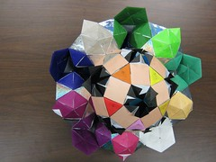 Rotunda-drilled-great-rhombicosidodecahedron-50-percent-complete.3 (Origami Tatsujin 折り紙) Tags: art colors paper paperart origami colorful geometry hexagon multicolored japaneseart papiroflexia colorscheme papercraft papercrafts polyhedra truncated modularorigami おりがみ multidimensional 折り紙 geometricbeauty geometricart cooperativelearning itsmulticolored mathworld icosohedron colorfulart origamipolyhedra greatrhombicosidodecahedron analyticalgeometry origamitutorial modularorigamiorigami mathematicsorigami origamitechniques equilateraltriangularflatunits flatunit equilateraltriangularflatunit colorbysaturation colorbyhue antiprismpolyhedramodelingsoftware geomtericbeauty rotundadrilledtruncatedicosidodecahedron itsmulticoored pentagonalrotunda