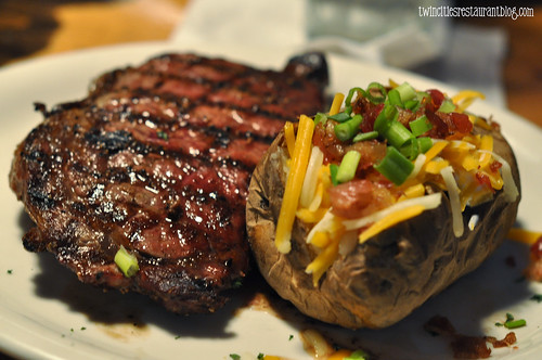 Ribeye and Loaded Baked Potato @ TX Land & Cattle ~ Austin, TX