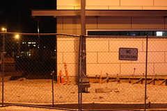 No Trespassing on City Hall Construction Site
