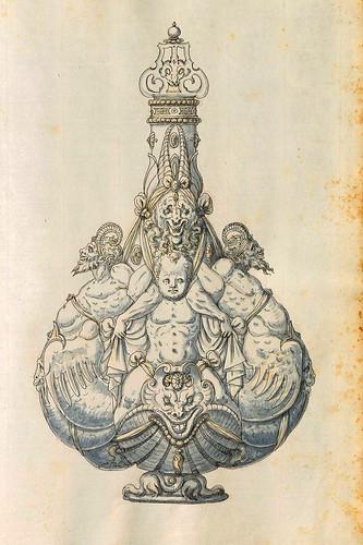 019-Recipiente con tapa-Entwürfe für Prunkgefäße in Silber mit Gold-BSB Cod.icon.  199 -1560–1565- Erasmus Hornick