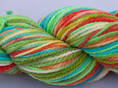 15% sale- Barefoot Surfer on Blackberry Ridge Merino Bulky 2-ply- 4 oz. (...a time to dye)