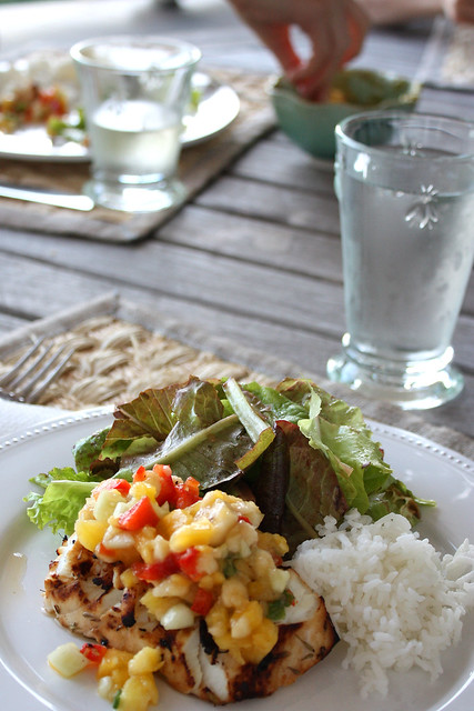 Caribbean Halibut with Tropical Salsa, Take 2