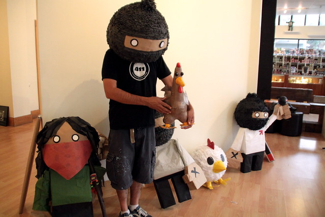 Zapatistas and Chicken inciting a revolution!