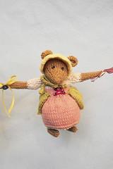 little mouse in bonnet (melissa_m) Tags: toy knitting nursery craft garland mice alandart