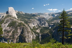 Half Dome, Nevada and Vernal Falls Photo