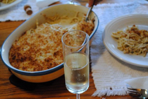 four cheese truffle oil mac & cheese