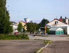 Liperi, Finland (phototouring) Tags: street summer streets tower buildings suomi finland outdoors europe finnland outdoor watertower north streetshots streetphotography streetscene center streetphoto finnish scandinavia karelia scandinavian watertowers streetphotos streetshot municipality northerneurope nordiccountries karjala municipalities vesitorni pohjoiskarjala liperi liperinvesitorni