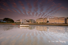 (Claire Hutton) Tags: uk houses sunset sea sky sun beach wall clouds buildings reflections boats boat sand sailing mud dorset sail lowtide buoy leefilters 06ndgrad 09ndgrad 06ndgradhe yesthehorizonisstraight theseawallisonabend