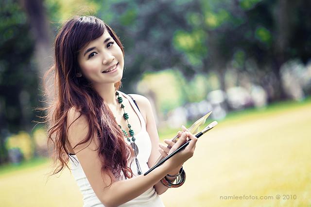 Chụp hình chân dung model Phương Trâm