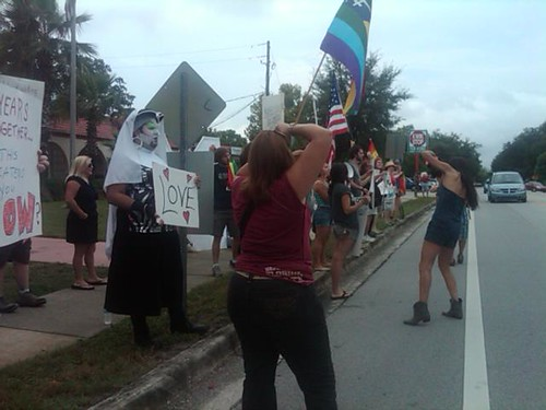 Equality supporters in Orlando, FL