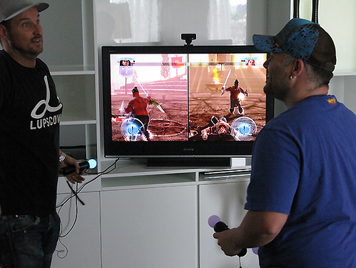 Caschy & MC Winkel mit PlayStation Move