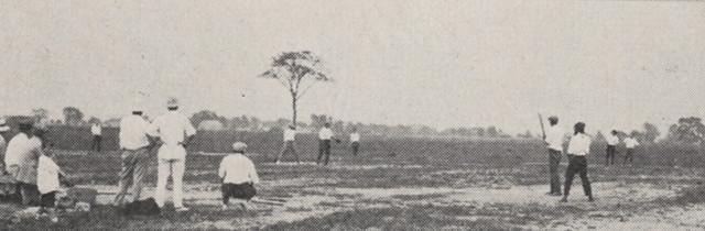 Baseball Game Panoramic View 1918 by UA Archives  Upper Arlington History