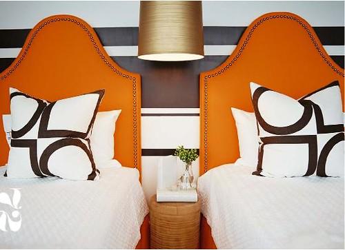 orange brown bedroom - lonny