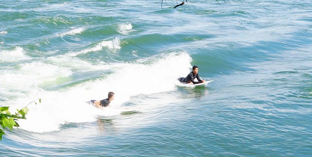 Surfers in Lasalle