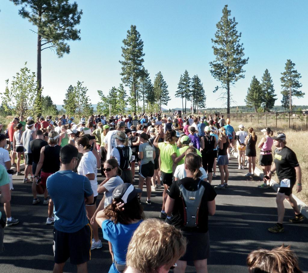 Starting Line - 2010 Haulin' Aspen Trail Marathon and 1/2 Marathon